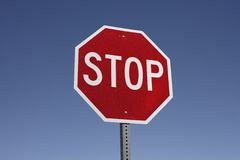 A real stop sign. Royalty Free Stock Photo