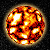 The real Sun on the sky with stars stock image