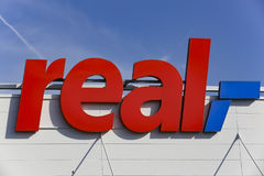 REAL Supermarket Logo Royalty Free Stock Images