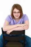 Real teen girl in glasses Royalty Free Stock Photos