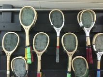 Real Tennis Rackets Royalty Free Stock Photography