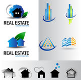Real estate logo set Royalty Free Stock Images