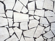 Crazy paving background - but grungy. Stock Photo