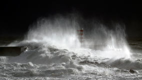 Real sea storm Royalty Free Stock Images