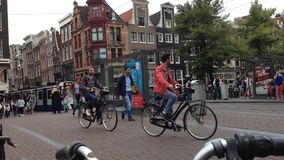 Real time in Amsterdam stock video footage
