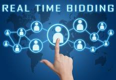 Real Time Bidding Stock Image