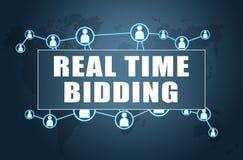 Real Time Bidding stock illustration