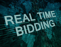 Real Time Bidding Royalty Free Stock Photo