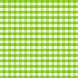 Real tkaniny zielony w kratkę tablecloth Obraz Royalty Free