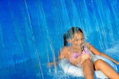 Real toddler girl at swimming pool Royalty Free Stock Image