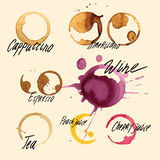 Real traces of the spray from the drinks vector illustration  set Royalty Free Stock Photography