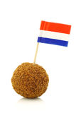 A real traditional Dutch snack called bitterbal Stock Photos