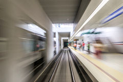 Real tunnel with high speed Royalty Free Stock Photo