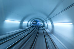 Real tunnel with high speed Royalty Free Stock Images