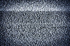 Real tv static. Analog television with white noise stock image