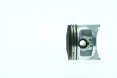 Real used aluminum piston isolated over white background.  Royalty Free Stock Photography