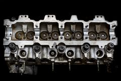 Real used car motor head enginer Royalty Free Stock Photography