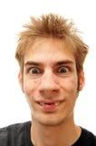 Real vampire teeth. A man showing off his realistic vampire teeth. crooked teeth Royalty Free Stock Photography