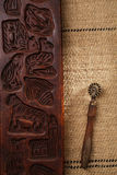 Real vintage unique wooden baking utensils Stock Images