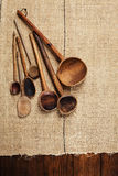 Real vintage wooden spoons Royalty Free Stock Photo