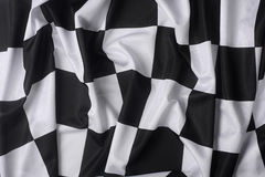 Real waving checkered flag Royalty Free Stock Images