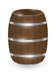 Real wood barrel on a white background. A real wood barrel on a white background Royalty Free Stock Photography