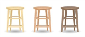 Real wood round chair set on white background. A real wood round chair set on white background Stock Photo