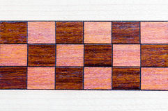 Real Wood, Square Inlay pattern. Royalty Free Stock Photo