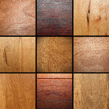 Real wood veneer collage. Images put together ready for your design Royalty Free Stock Images