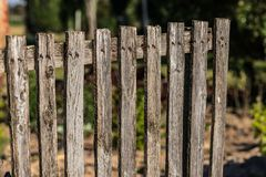 Real wooden fence old wood royalty free stock photography
