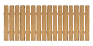 Real wooden fence vector on a white background. A real wooden fence vector on a white background Royalty Free Stock Photo
