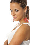 Real young beautiful woman Stock Image