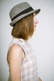 Real young girl in a hat Royalty Free Stock Photos