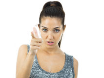 Real young woman expression Stock Photo