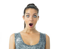 Real young woman expression Stock Photography