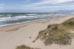 Real Zaragoza plaża na wybrzeżu Marbella, MÃ ¡ laga Zdjęcia Royalty Free