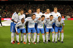 Real Zaragoza Team Royalty Free Stock Photography