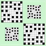 Reala crossword łamigłówki wielkościowe siatki ilustracja wektor
