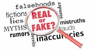 Reala lub imitaci Powiększać - szklana kłamstwo informacja 3d Illustra Źle royalty ilustracja