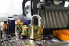 Realce da segurança de dados do computador Foto de Stock