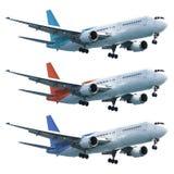 Reale Düsenflugzeug eingestellt stockbild
