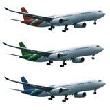 Reale Düsenflugzeug eingestellt lizenzfreies stockfoto