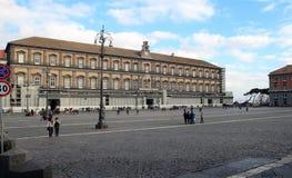 Reale de Palazzo à Naples Images libres de droits