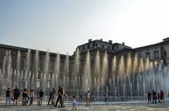 Reale de Venaria, région de Piémont, Italie Juin 2017 La fontaine de Cervo photo stock