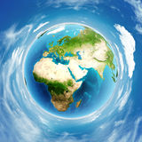 Reale Entlastung der Planetenerde Stockfotos