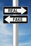 Reale o falso fotografie stock