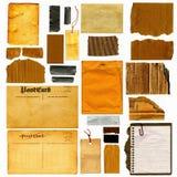 Reale Papierfeld-großes Set Stockfotos
