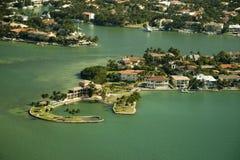 Luftaufnahme über Miami Lizenzfreie Stockfotos