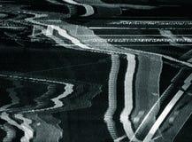Reales durcheinandergemischtes Bild auf Fernsehapparat Stockfotografie