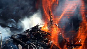 Reales Feuer stock footage